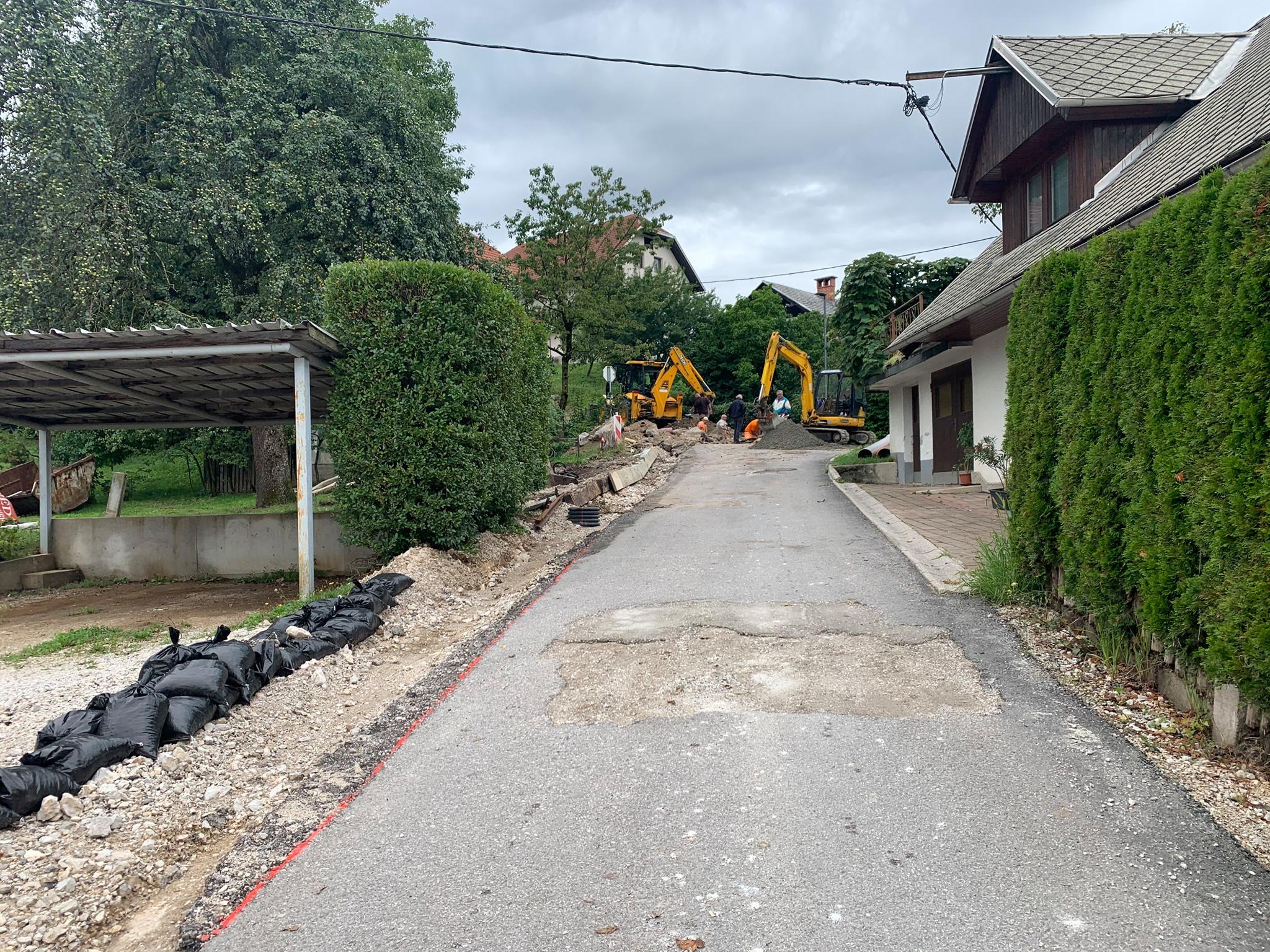 Obnova kanalizacije in ceste skozi Poljšico